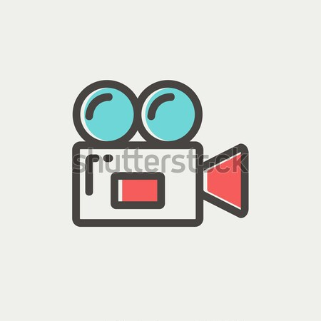 古い 映画 ビデオ カム 薄い 行 ストックフォト © RAStudio