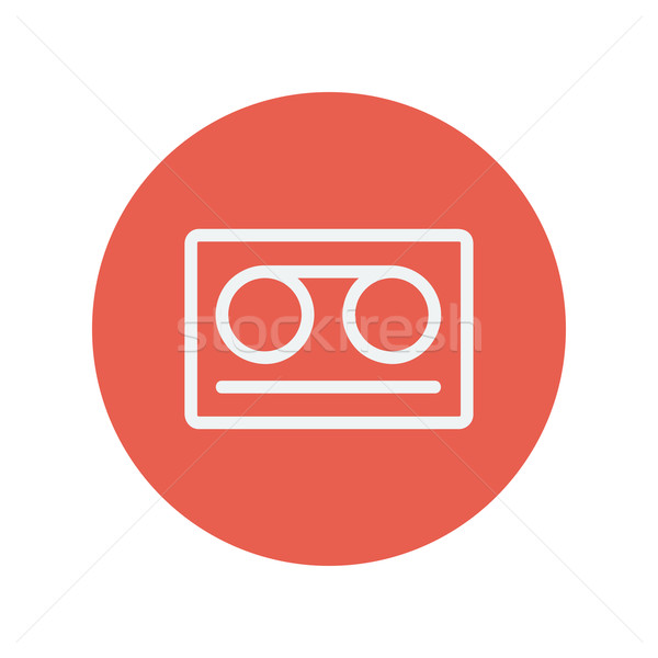 Cassette tape thin line icon Stock photo © RAStudio