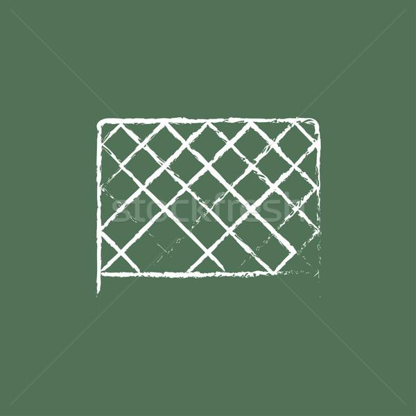 Sports nets icon drawn in chalk. Stock photo © RAStudio