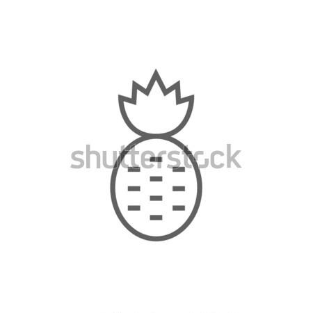 ананаса линия икона веб мобильных Инфографика Сток-фото © RAStudio
