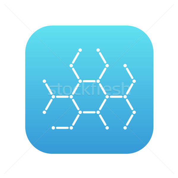 Molecule line icon. Stock photo © RAStudio