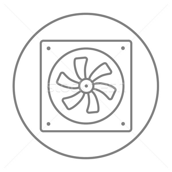 Computer cooler line icon. Stock photo © RAStudio