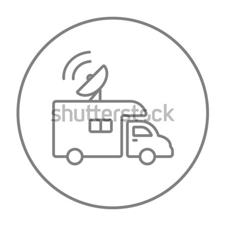 Broadcasting van  line icon. Stock photo © RAStudio