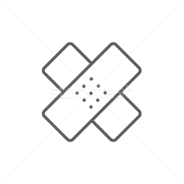 Adhesive bandages line icon. Stock photo © RAStudio
