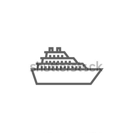 クルーズ船 行 アイコン コーナー ウェブ 携帯 ストックフォト © RAStudio