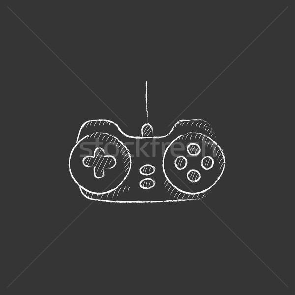 Joystick giz ícone vetor Foto stock © RAStudio