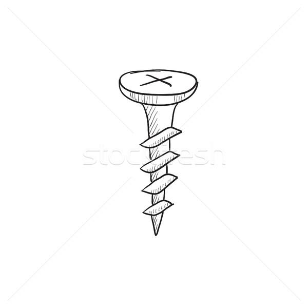ネジ スケッチ アイコン ベクトル 孤立した 手描き ストックフォト © RAStudio
