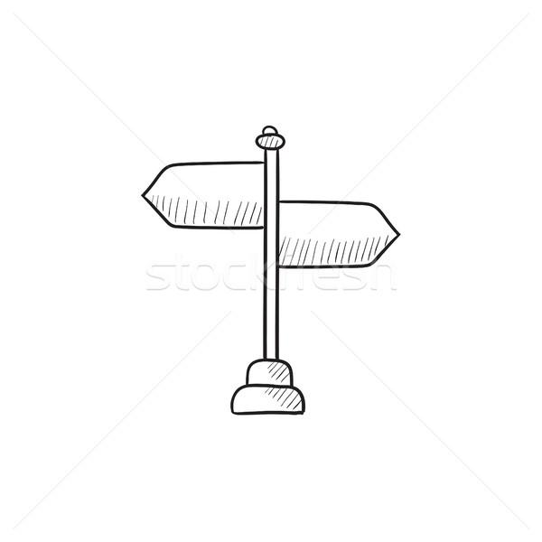 Viajar sinaleiro esboço ícone vetor isolado Foto stock © RAStudio