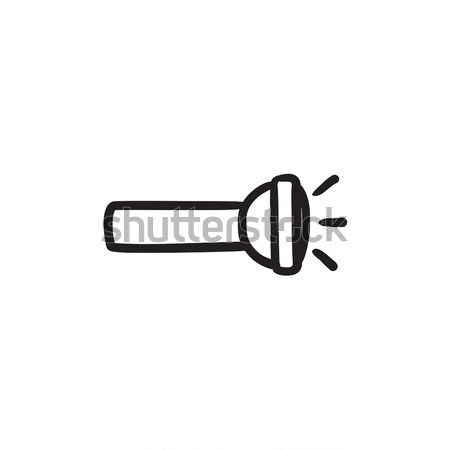 Flashlight sketch icon. Stock photo © RAStudio