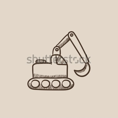 Excavator sketch icon. Stock photo © RAStudio