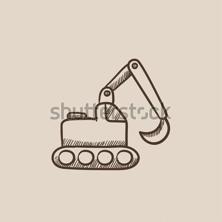 Pelle croquis icône vecteur isolé dessinés à la main Photo stock © RAStudio