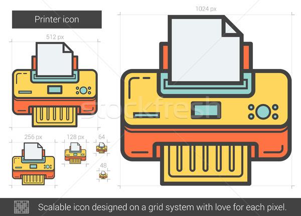 Printer line icon. Stock photo © RAStudio