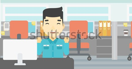 Injured man with broken arm vector illustration. Stock photo © RAStudio