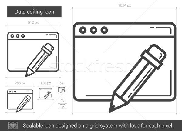 Data editing line icon. Stock photo © RAStudio