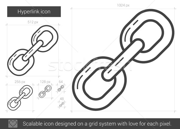 Hyperlink line icon. Stock photo © RAStudio