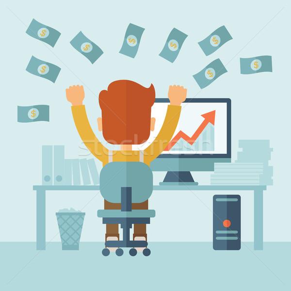 Successful Businessman with a Lot of Money. Stock photo © RAStudio