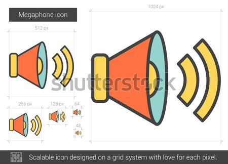 Megaphone line icon. Stock photo © RAStudio