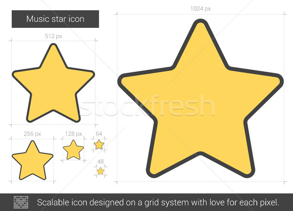 Music star line icon. Stock photo © RAStudio