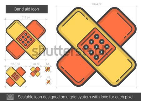 Band steun lijn icon vector geïsoleerd Stockfoto © RAStudio