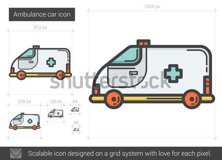 скорой автомобилей линия икона вектора изолированный Сток-фото © RAStudio