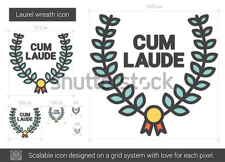 Laurel wreath line icon. Stock photo © RAStudio