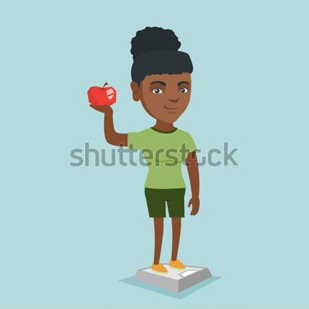 Szczupły człowiek spodnie wyniki diety Zdjęcia stock © RAStudio