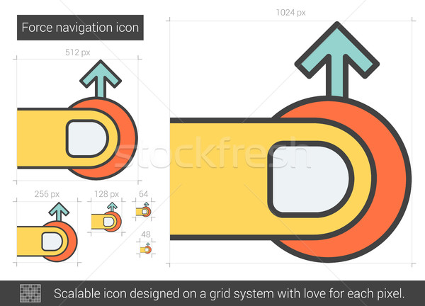 Force navigation line icon. Stock photo © RAStudio