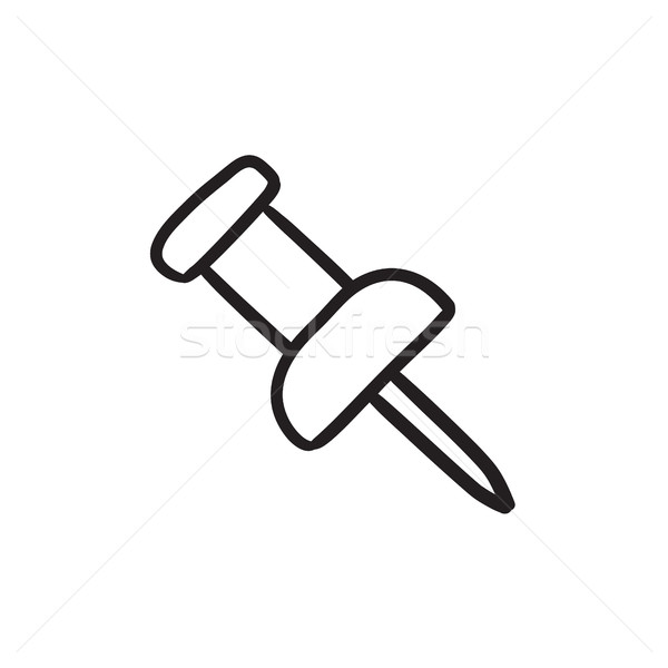 Pushpin sketch icon. Stock photo © RAStudio
