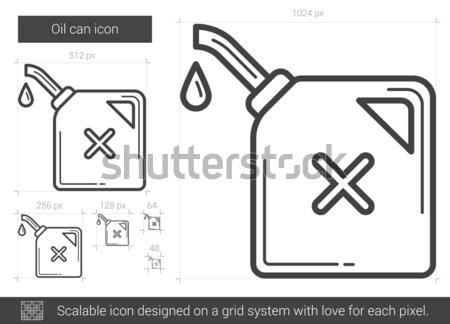 Oil can line icon. Stock photo © RAStudio