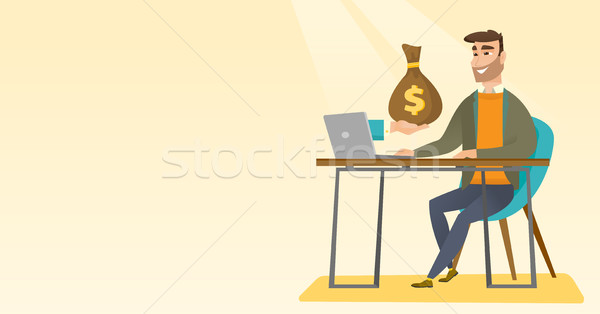 Businessman earning money from online business. Stock photo © RAStudio