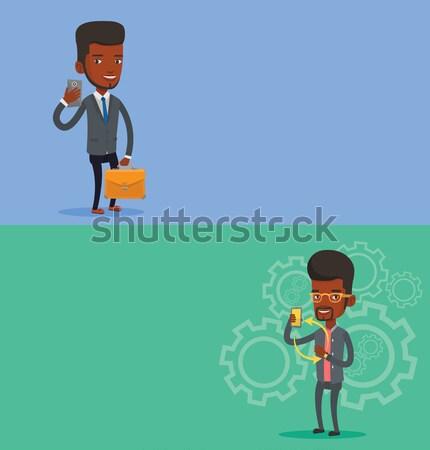 2 ビジネス バナー スペース 文字 ベクトル ストックフォト © RAStudio