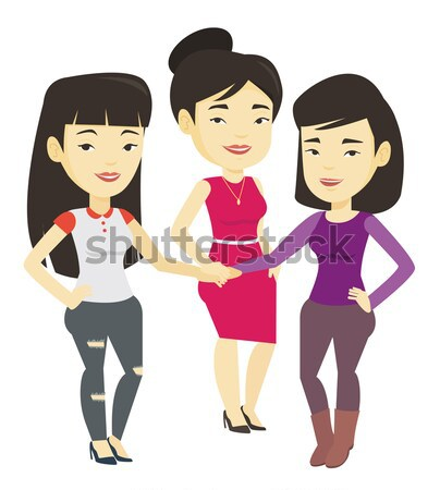 Group of business women joining hands. Stock photo © RAStudio