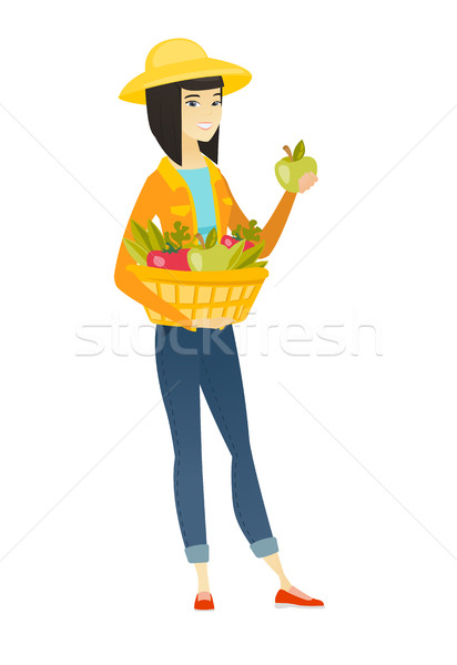 Farmer harvesting harvest of vegetables and fruits Stock photo © RAStudio