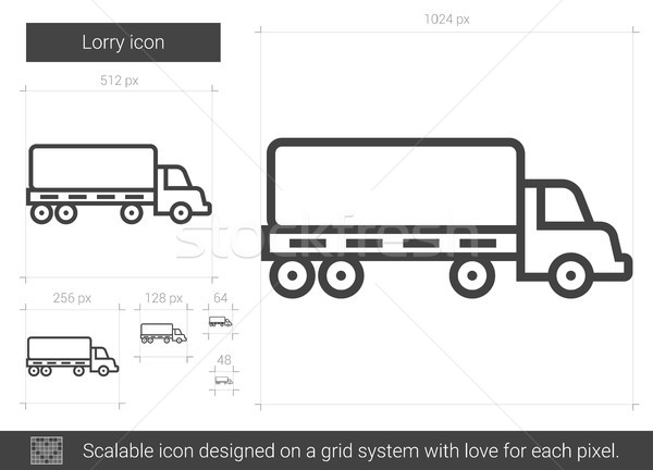 Lorry line icon. Stock photo © RAStudio