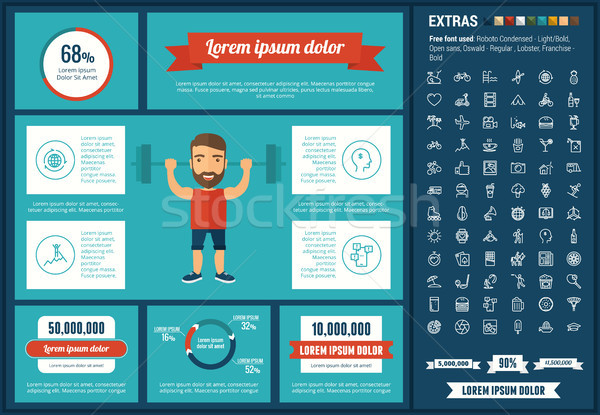 Stock photo: Lifestyle flat design Infographic Template