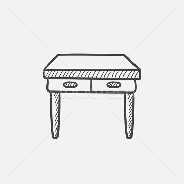 таблице эскиз икона веб мобильных Сток-фото © RAStudio