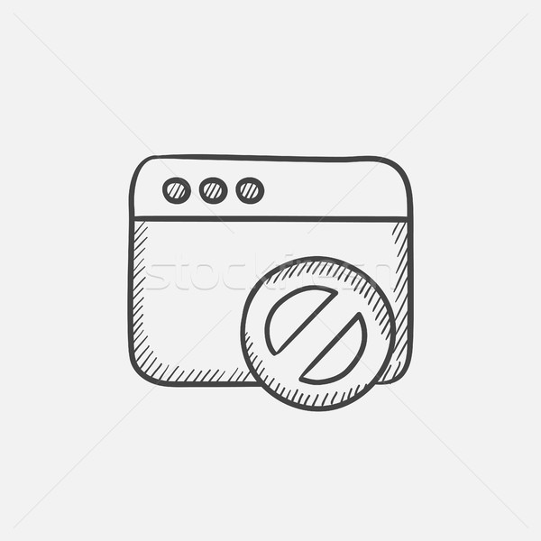 Browser window with no sign sketch icon. Stock photo © RAStudio