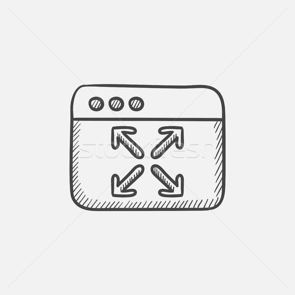 Foto stock: Completo · Screen · boceto · icono · web · móviles