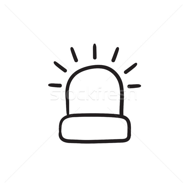 Siren light sketch icon. Stock photo © RAStudio