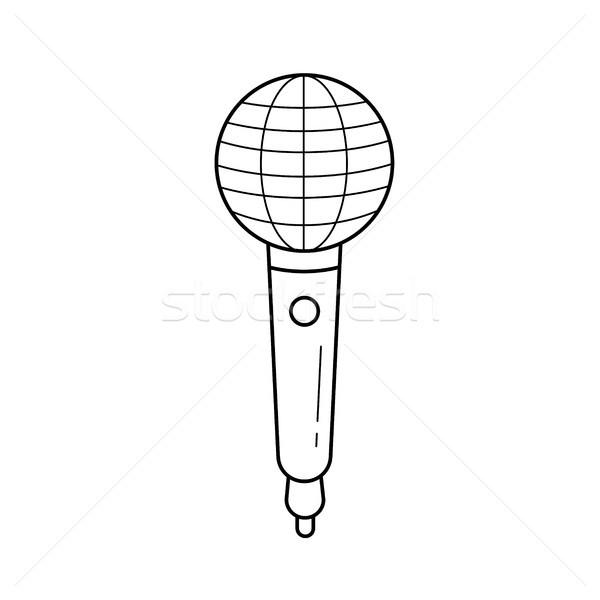 Radio mikrofon line ikona wektora odizolowany Zdjęcia stock © RAStudio