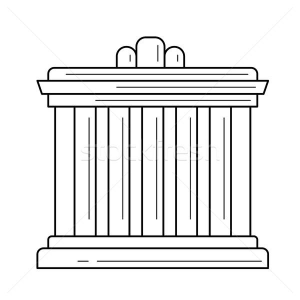 Palácio Atenas linha ícone vetor isolado Foto stock © RAStudio