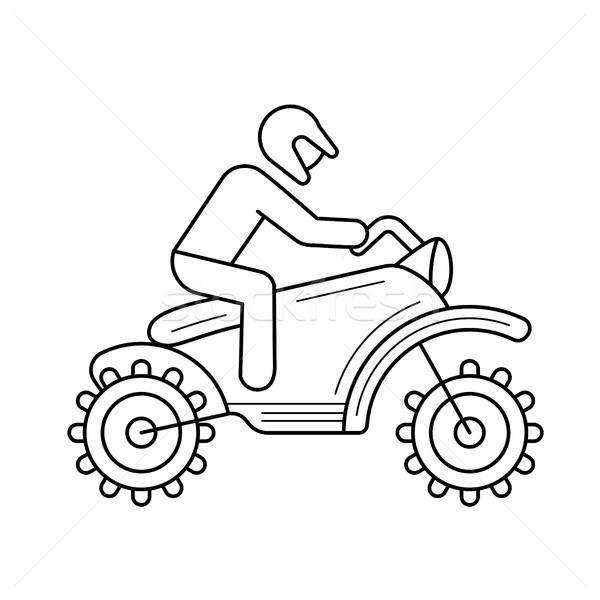 Stock photo: Motorcross line icon.