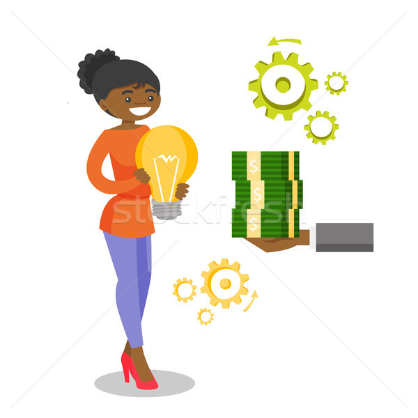 African business woman exchanging idea for money Stock photo © RAStudio