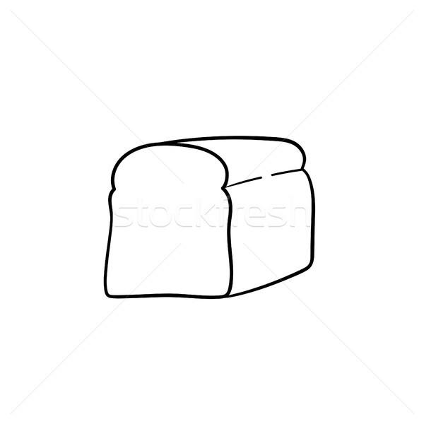 Half brood schets icon schets Stockfoto © RAStudio