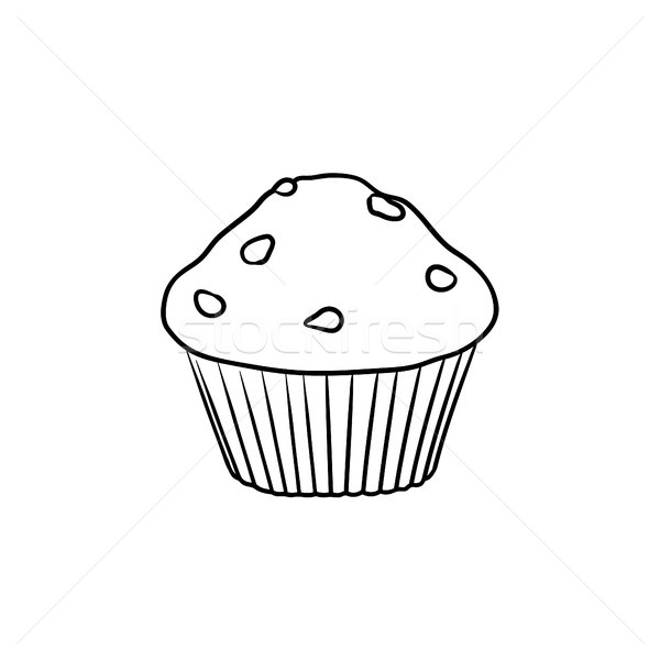 Muffin dibujado a mano boceto icono garabato Foto stock © RAStudio