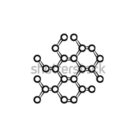 Molecular lattice hand drawn outline doodle icon. Stock photo © RAStudio