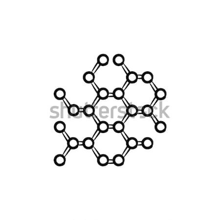 молекулярный рисованной болван икона атомный Сток-фото © RAStudio
