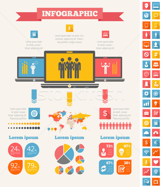 Stock photo: IT Industry Infographic Elements