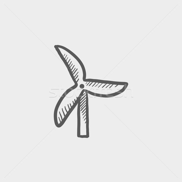 Windmill sketch icon Stock photo © RAStudio