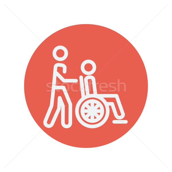 Nursing care thin line icon Stock photo © RAStudio